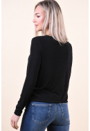 Bluza Dama Pieces Odessa Top Black