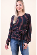 Bluza Dama Object Leonie Sky Captain Striped