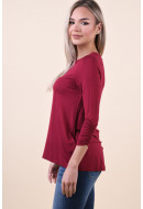 Bluza Dama Vero Moda Frida 3/4 Rumba Red