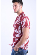 Camasa Barbati Jack&Jones Floral Resort Burnt Russet