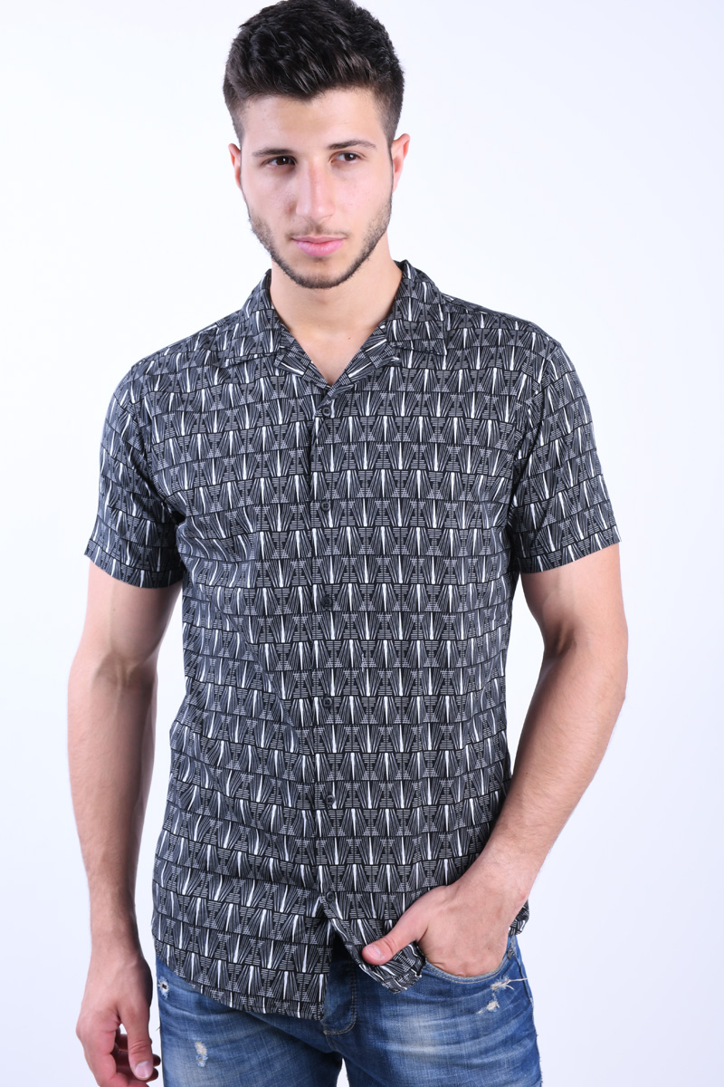 Camasa Barbati Jack&Jones Retro Resort Black