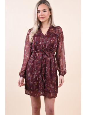 Rochie Vero Moda Hanna Lurex Shirt Dress Port Royale