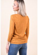 Bluza Dama Object Tessi Slub 3/4 Buckthorn Brown