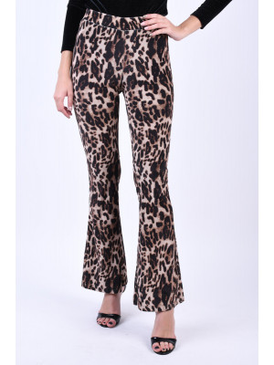 Pantaloni Dama Noisy May Ole Nw Flared Black/Leopard