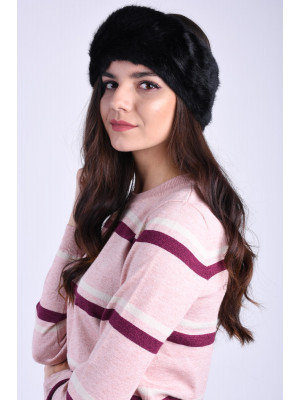 Canadiana Pieces Fur Headband Black/Solid