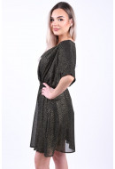 Rochie Object Hollie 3/4 Black Gold Foil