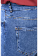 Blugi Dama Pieces Five Delly B185 Mw Skinny Medium Blue Denim