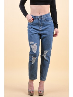 Blugi Dama Noisy May Cara Donna Hw Ankle Medium Blue Denim