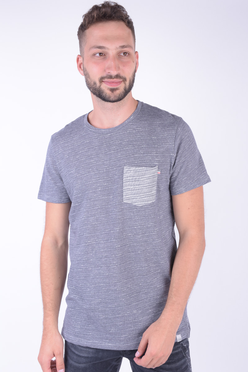 Tricou Barbati Jack&Jones Jor Valley Tee Ss Crew Neck Dark Denim
