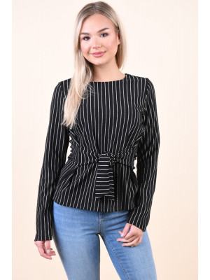 Bluza Dama Pieces Oriak Tie Black/Silver