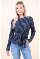 Bluza Dama Pieces Oriak Tie Navy Blazer/Silver