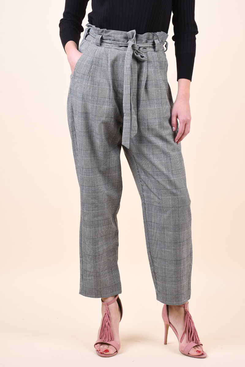 Pantaloni Dama Vero Moda Emely Hr Loose Medium Grey Melange