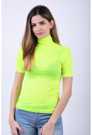Bluza Dama Pieces Figuna Roll Neck Safety Yellow