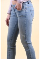 Blugi Dama Only Coral Life Sk Ankle Light Blue Denim