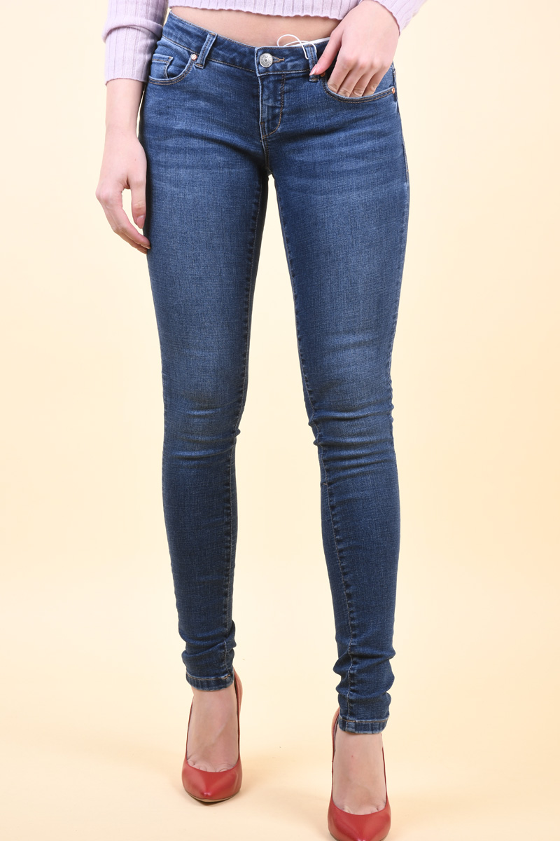 Blugi Dama Only Coral Life Sl Skinny Pim6019 Medium Blue Denim