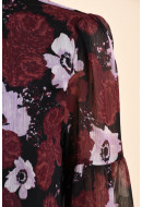 Bluza Dama Pieces Pcolla Ls Blouse Port Royale / Flower Print