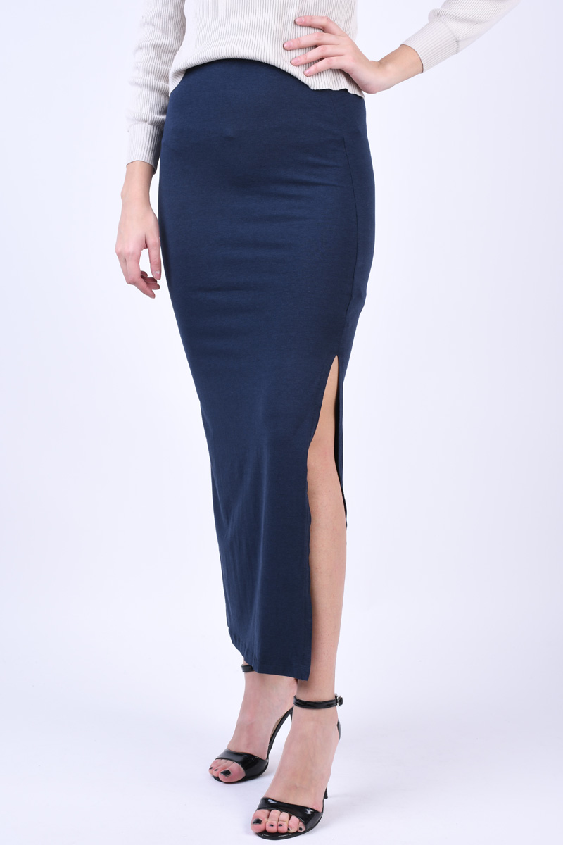 Fusta Vila Honesty New Maxi Slit Total Eclipse