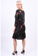 Rochie Dama Vero Moda Vmfleur Pleated 3/4 Dress Black / Flower