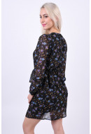 Rochie Dama Vero Moda Vmrose Lace Ls Dress Black / Rose Print