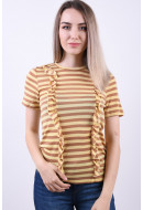 Bluza Dama Vero Moda Genesee Frill Indian Tan Mellow Yellow