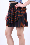 Fusta Only Petunia Layered Short Night Sky/Ginger Bread Stripes