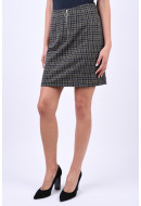 Fusta Vero Moda Britta Hw Black Checks