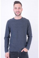Pulover Barbati Jack&Jones Jorlaundry Knit Crew Neck Total Eclipse