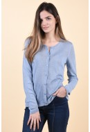 Cardigan Dama Vila Filak Knlit Ashley Blue