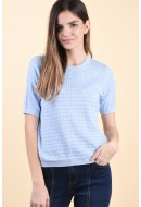 Pulover Dama Vila Alima Knit O-Neck Kentucky Blue