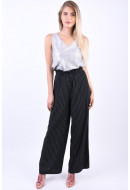 Pantaloni Dama Object Rose Hw Black Stripe