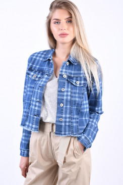 Geaca Dama Object Nela Denim Medium Blue Denim