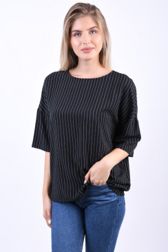 Bluza Dama Object Rose Black Stripe