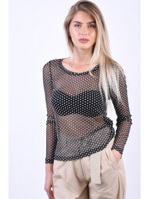 Bluza Dama Object Louis Jersey Black Dots