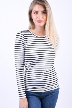 Bluza Dama Object Elisa Black White Stripe