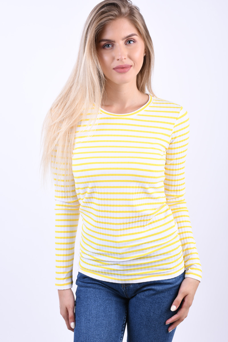 Bluza Dama Object Elisa Maize White Stripe