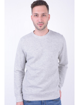 Bluza Barbati Jack&Jones Jprwilliam Crew Neck White Melange