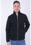 Bluza Fermoar Barbati Jack&Jones Jprteddy Turtle Neck Black