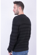 Pulover Barbati Jack&Jones Jorredding Knit Crew Neck Dark Grey Melange