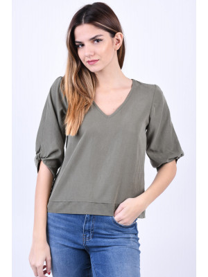 Bluza Dama Noisy May Kira 3/4 Dusty Olive