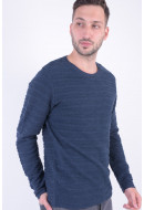 Bluza Barbati Jack&Jones Jorlegion Crew Neck Total Eclipse