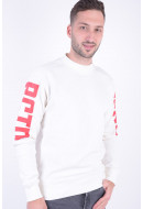 Bluza Barbati Jack&Jones Jcopixel Crew Neck Cloud Dancer