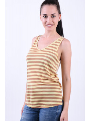 Maieu Dama Vero Moda Genesee Indian Tan Stripe