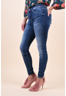 Blugi Dama Vero Moda Lux Mr Slim Tapered Ri301 Dark Blue Denim