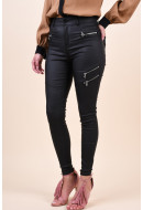 Pantaloni Dama Vero Moda Sophia Hr Slim Coated Zipper Black