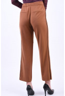 Pantaloni Dama Only Noora Mw Straight Piping Argan Oil