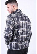 Geaca Barbati Only&Sons Rain Ribstop Quilted Black/Checks