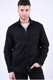 Camasa Barbati Only&Sons Stay Overshirt Black Denim