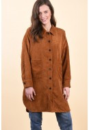 Camasa Dama Only Corduroy Oversize Brown Sugar