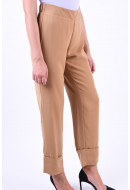 Pantaloni Dama Vero Moda Idol Fold Up Tobacco Brown
