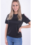 Bluza Dama Pieces Pcmia Ss Blouse Ff Black